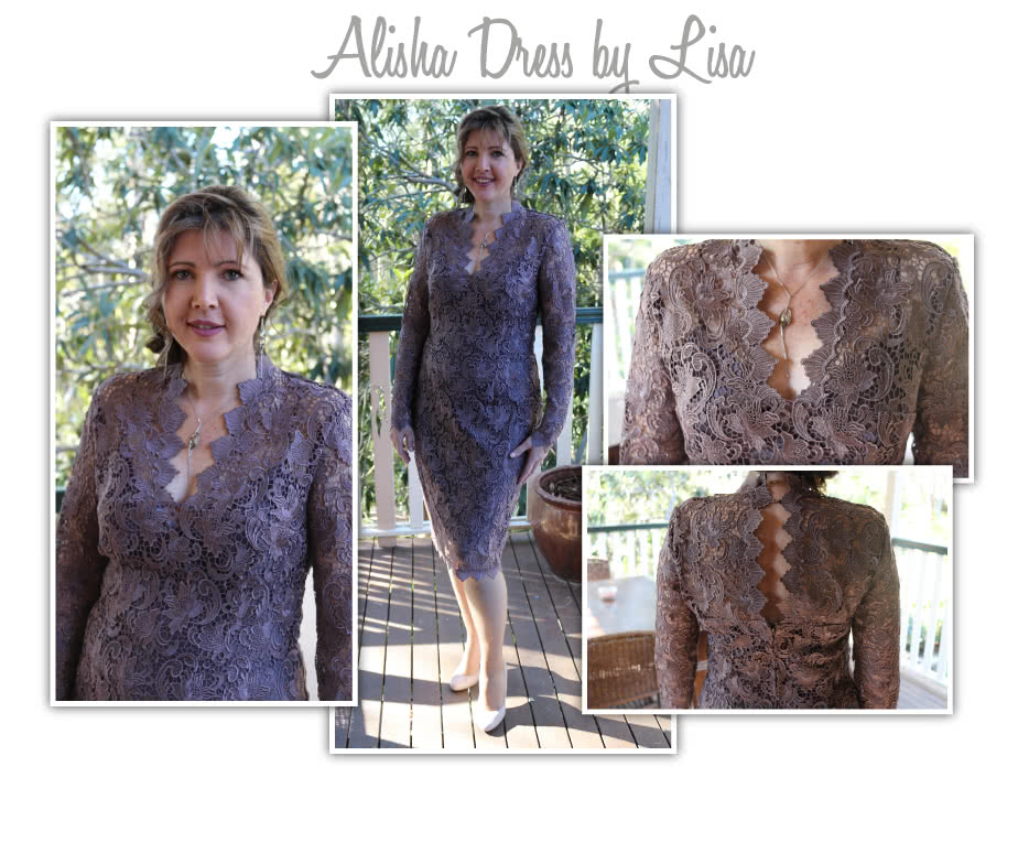 Alisha Dress Sewing Pattern By Lisa And Style Arc - Fabulous V-neck dress with slip (pattern included)