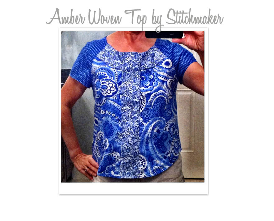 Amber Woven Blouse Sewing Pattern By Stitchmaker And Style Arc - Fashionable slip on top featuring interesting details