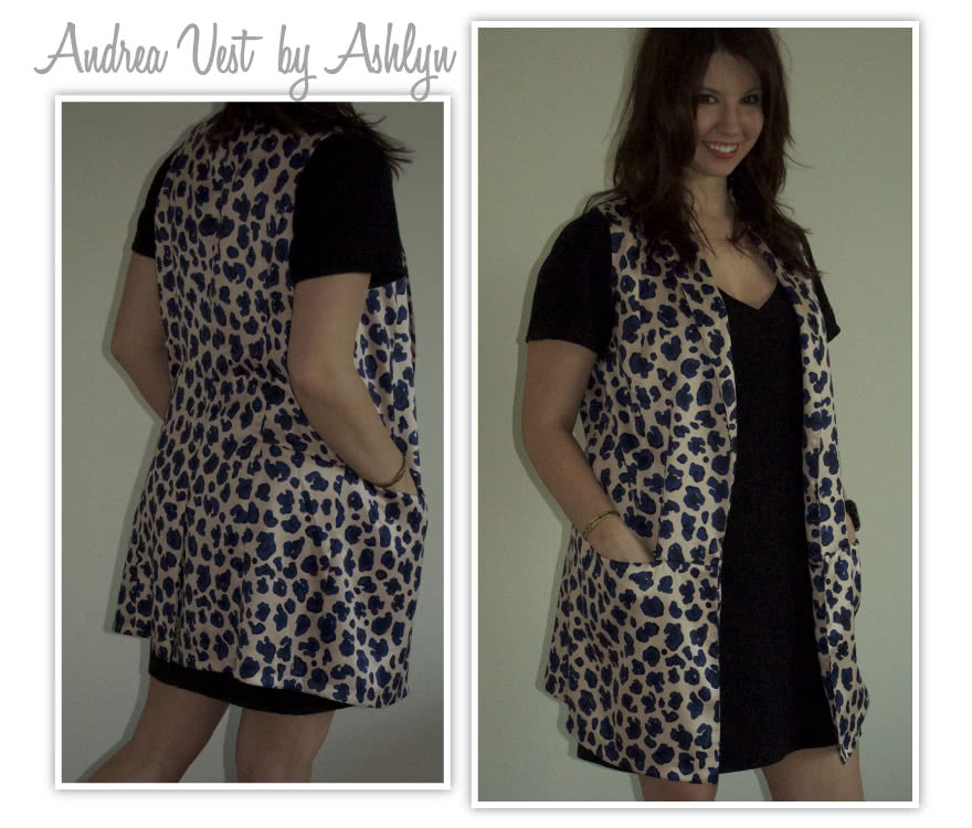 Andrea Woven Vest Sewing Pattern By Ashlyn And Style Arc - Trendy long line vest with shawl collar & pockets