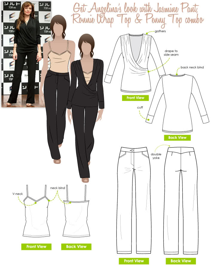 Angelina's Look No.1 Sewing Pattern Bundle By Style Arc