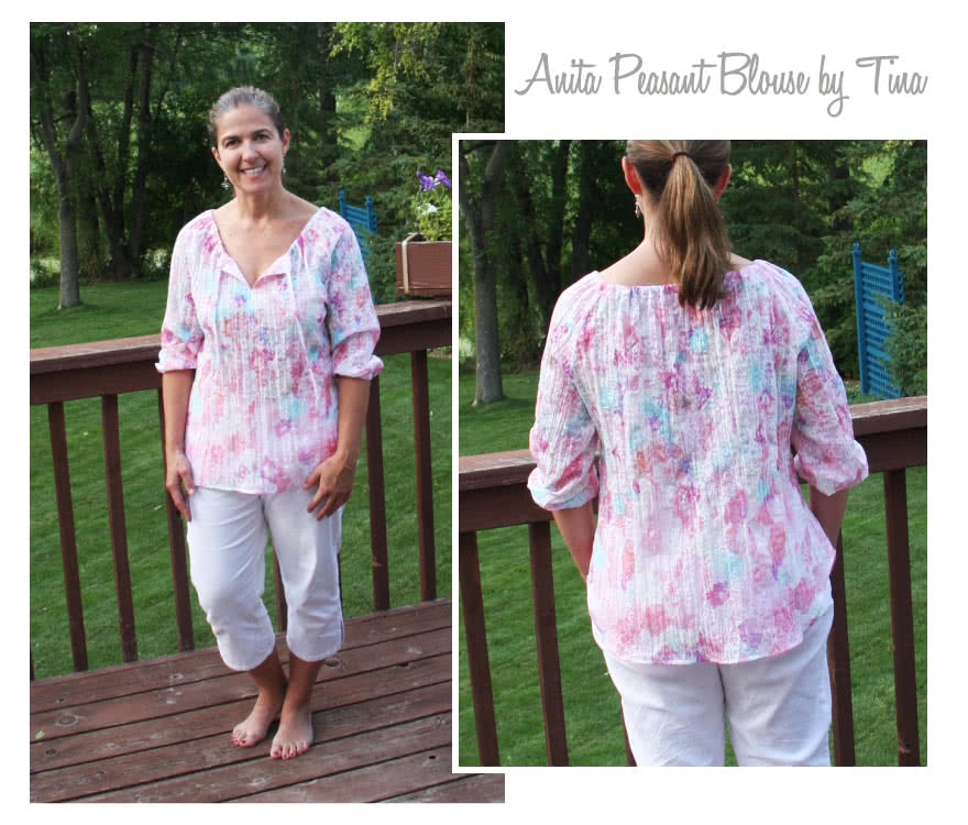 Anita Peasant Blouse Sewing Pattern By Tina And Style Arc - Peasant blouse, easy to make and wear