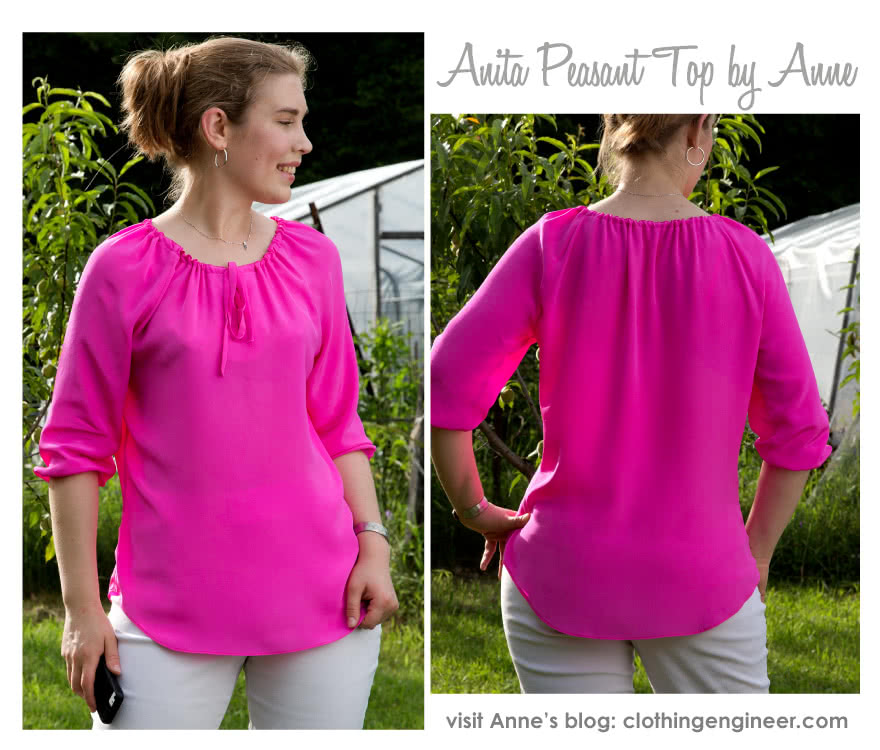 Anita Peasant Blouse Sewing Pattern By Anne And Style Arc - Peasant blouse, easy to make and wear