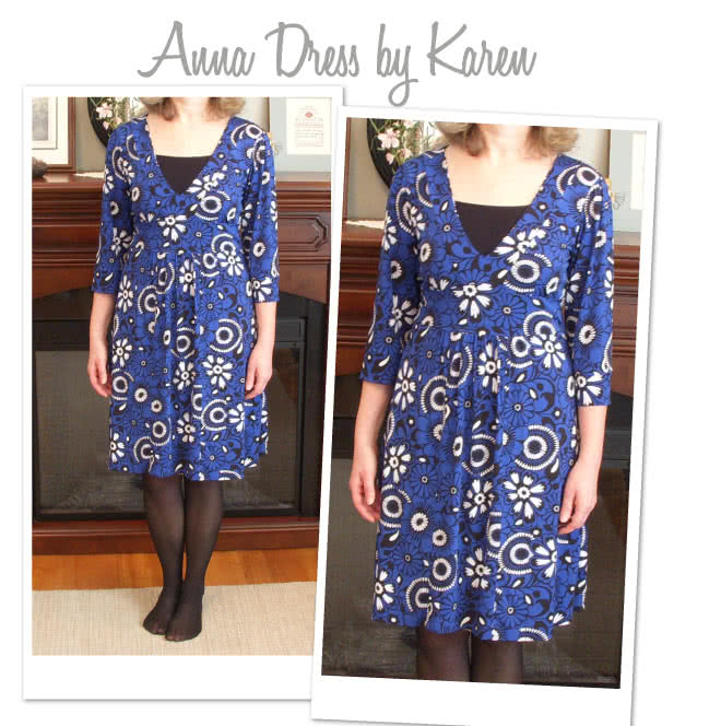 Anna Dress Sewing Pattern By Karen And Style Arc