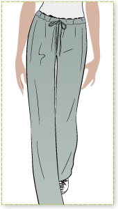 Anna Pant Sewing Pattern By Style Arc - Straight leg drawstring pant - casual & sporty