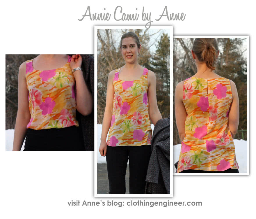 Annie's Cami Sewing Pattern By Anne And Style Arc