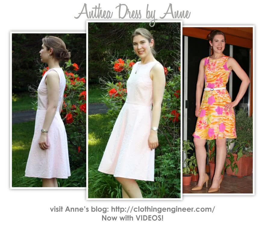 Anthea Dress Sewing Pattern By Anne And Style Arc - Trendy woven dress with a slight boat neckline