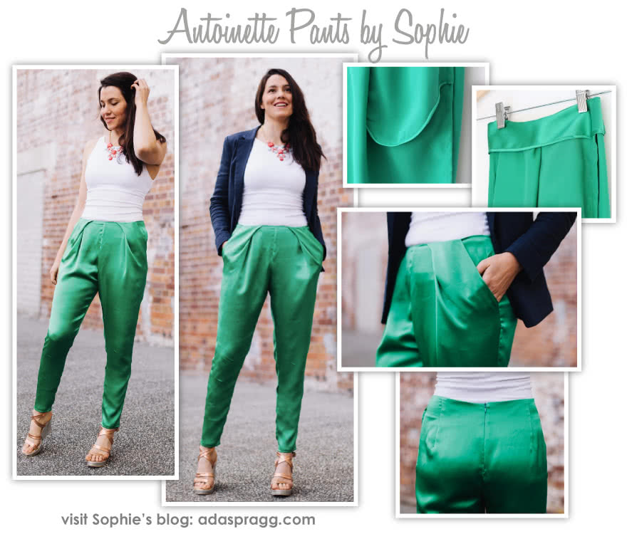 Antoinette Pant Sewing Pattern By Sophie And Style Arc - Designer slouchy angled pleat front pant