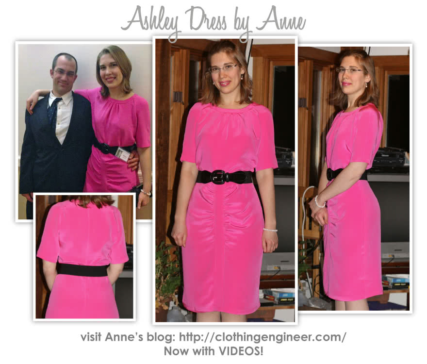 Ashley Dress Sewing Pattern By Anne And Style Arc - Flattering dress with gathers in the right places