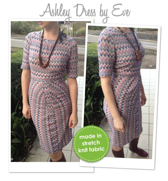 Ashley Dress Sewing Pattern By Eve And Style Arc - Flattering dress with gathers in the right places