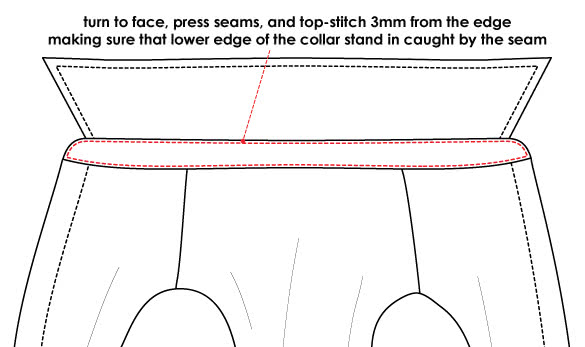 How to Sew a Collar and a Collar Stand - Step 3