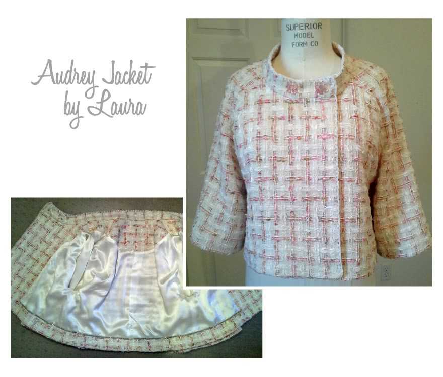 Audrey Jacket Sewing Pattern By Laura And Style Arc - Slightly flared retro jacket with wide sleeves