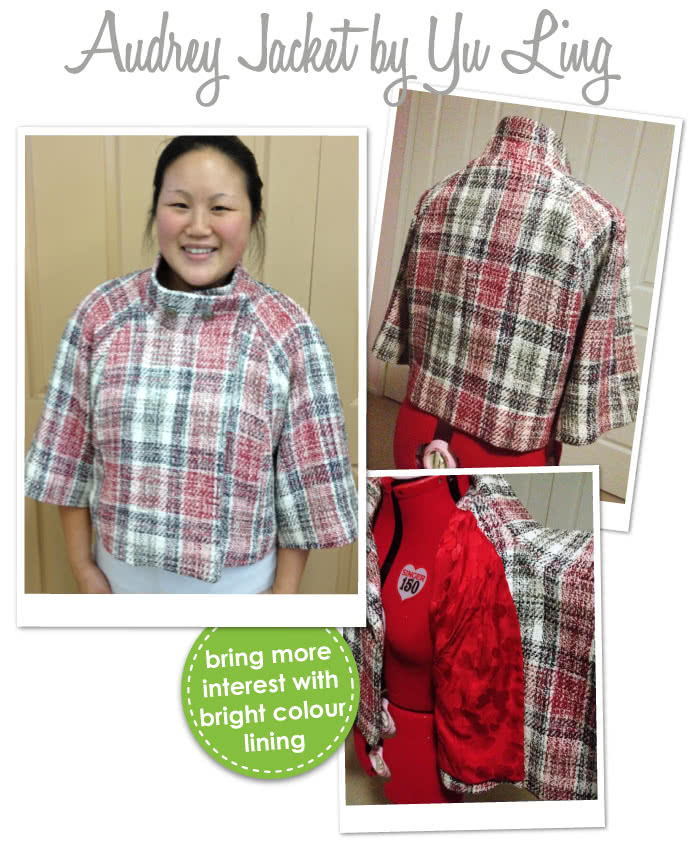 Audrey Jacket Sewing Pattern By Yu And Style Arc - Slightly flared retro jacket with wide sleeves