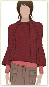 Audrey Jacket Sewing Pattern By Style Arc - Slightly flared retro jacket with wide sleeves