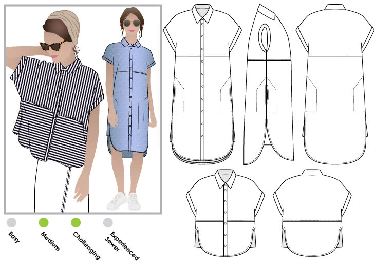Blaire Shirt & Dress – Style Arc