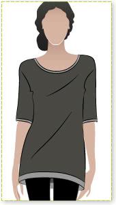 Bali Bindi Tunic Sewing Pattern By Style Arc - Tunic with interesting hemline & wide sleeve