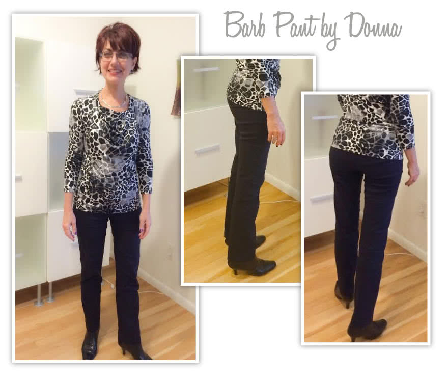 Barb's Stretch Pant Sewing Pattern By Donna And Style Arc - Stretch woven pull on pant with elastic waist
