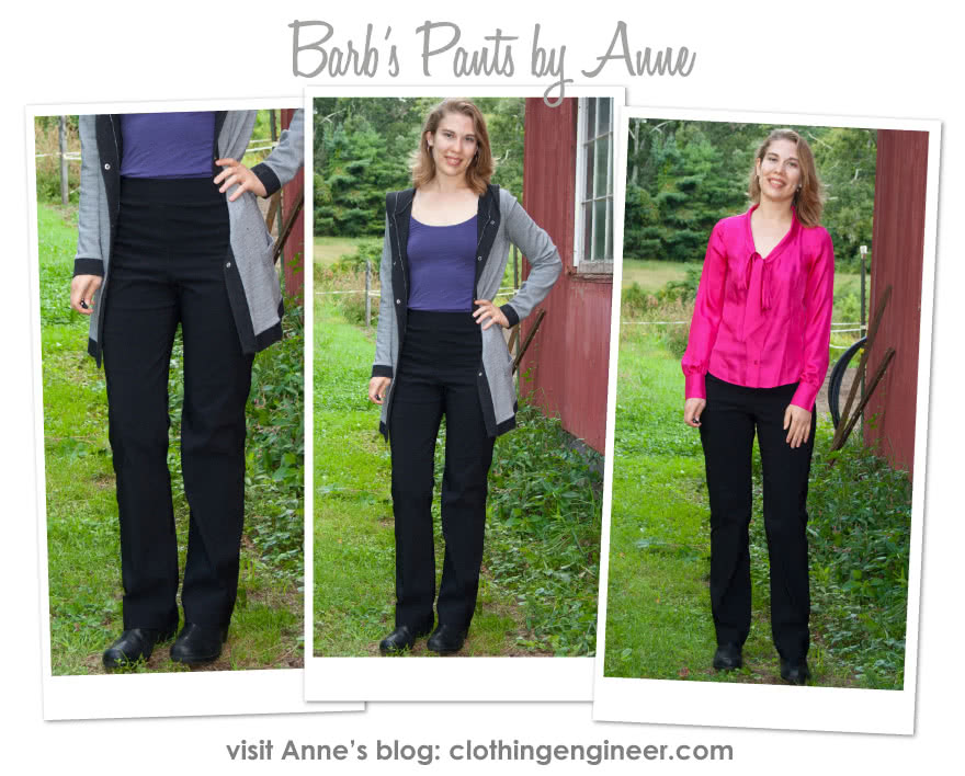 Barb's Stretch Pant Sewing Pattern By Anne And Style Arc - Stretch woven pull on pant with elastic waist