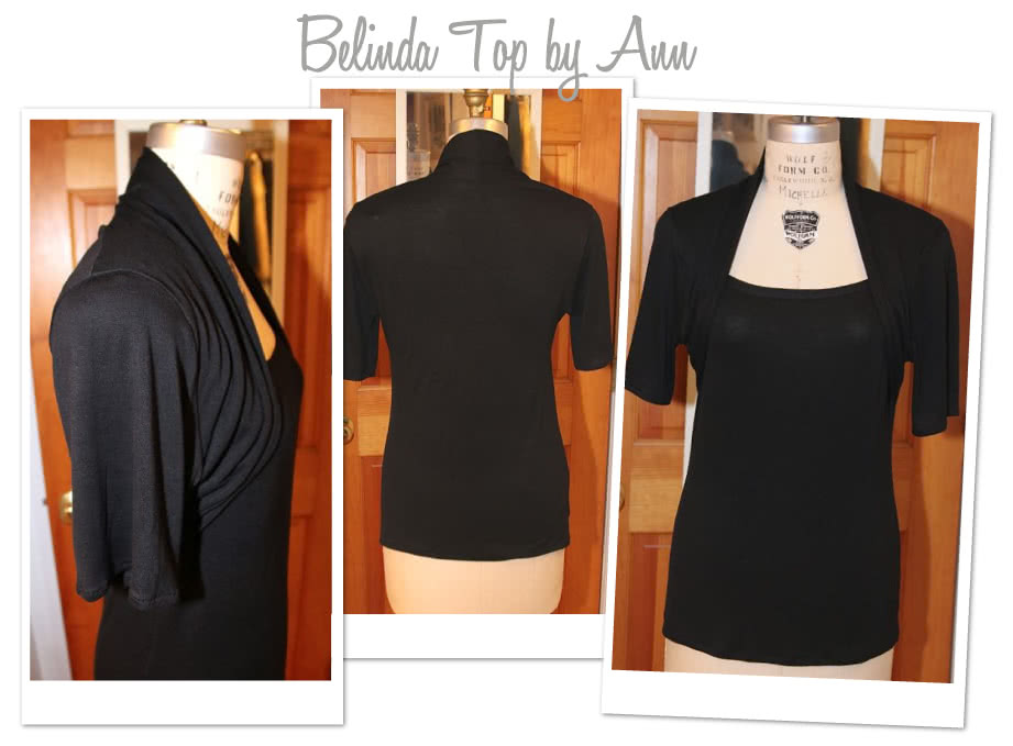 Belinda Jersey Top Sewing Pattern By Ann And Style Arc - Clever top with a built in shrug effect