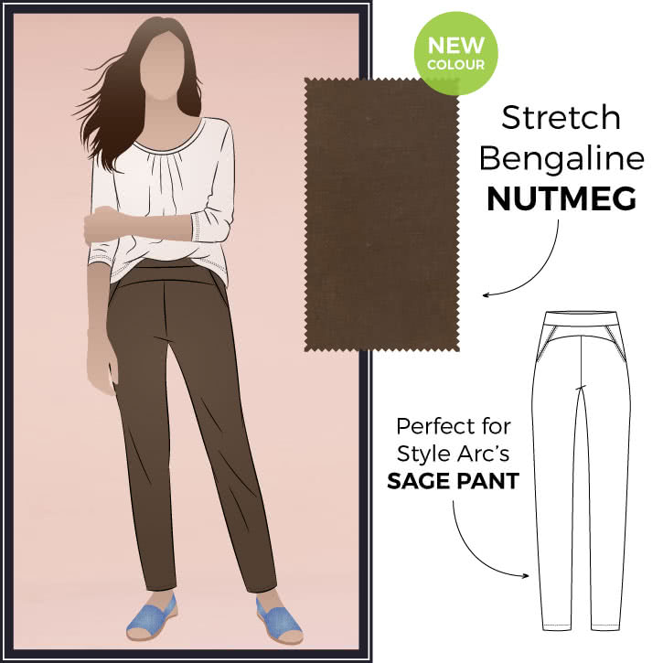 Stretch Bengaline Fabric – Nutmeg By Style Arc
