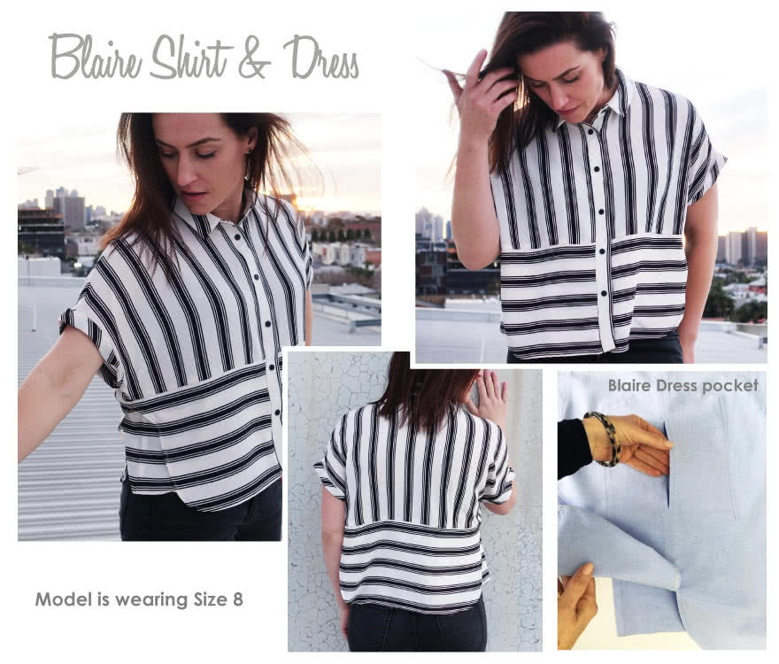 Blaire Shirt & Dress Sewing Pattern By Style Arc