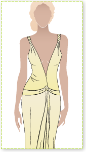 Bonnie Dress Sewing Pattern By Style Arc - Fabulous sexy dress with plunging neckline