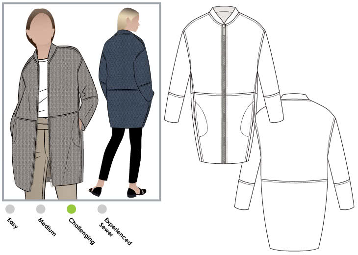Casey Coat Sewing Pattern Jacket Vest Coat Sewing Patterns