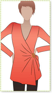 Cross Over Kit Sewing Pattern By Style Arc - Clever wrap top with side buckle feature