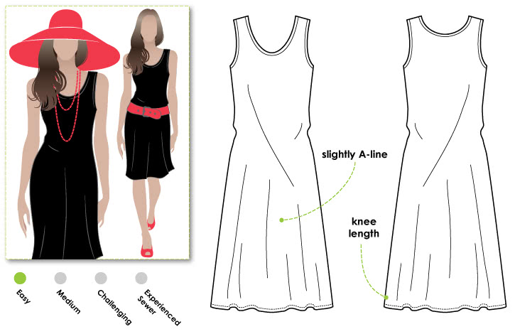 Cruise Club Kim Dress Sewing Pattern By Style Arc - Fabulouse all occasion dress
