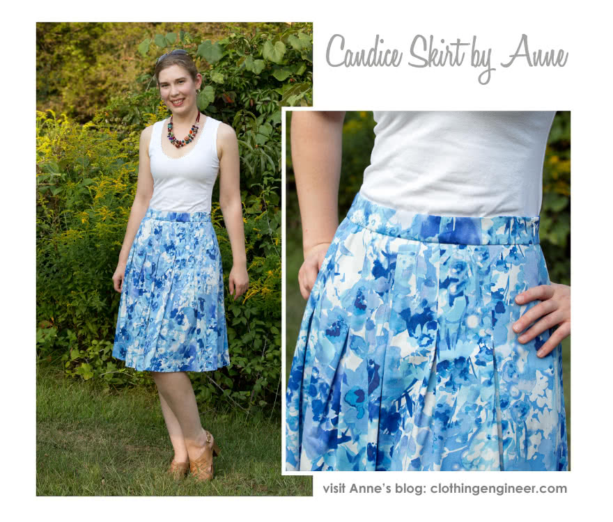 Candice Skirt Sewing Pattern By Anne And Style Arc - The inverted pleats make this a new skirt, great for any occasion
