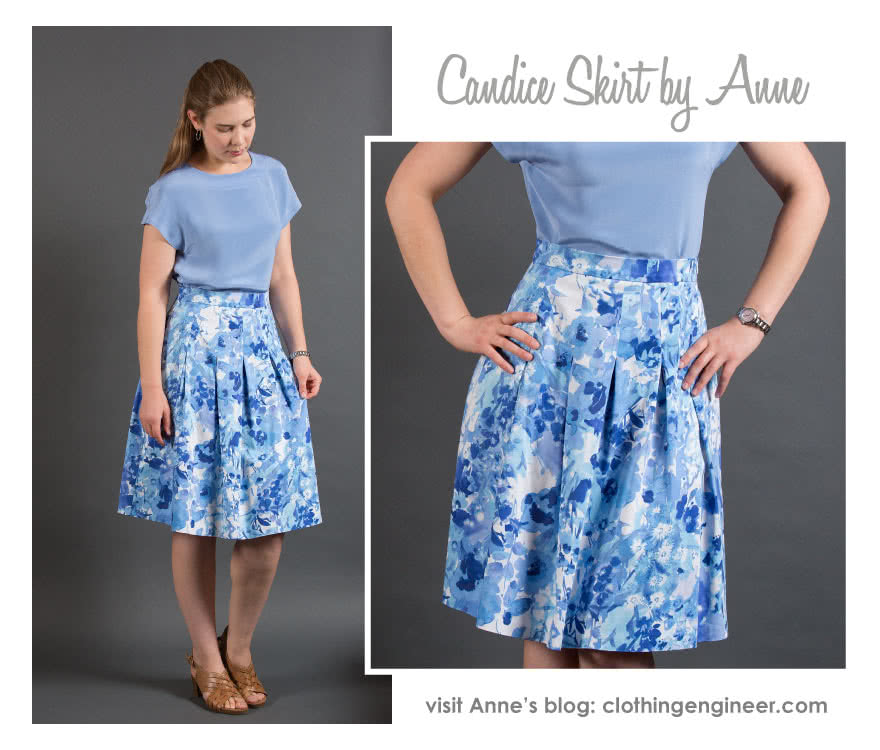 Skye Top + Candice Skirt Outfit Sewing Pattern Bundle By Anne And Style Arc