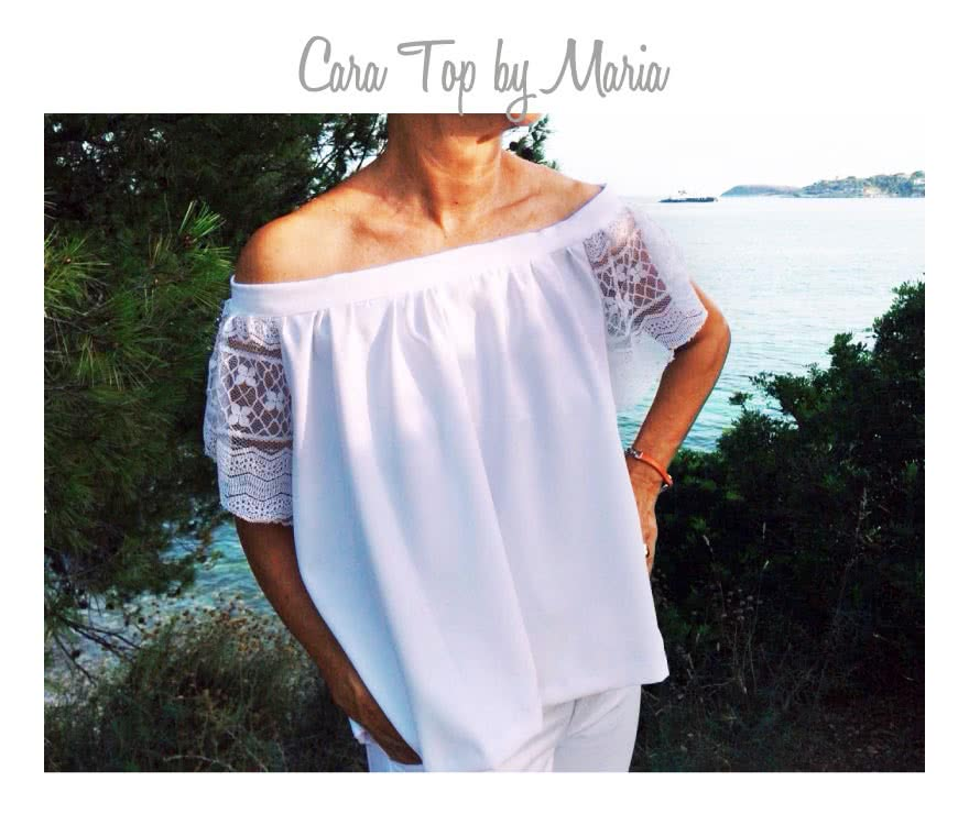 Cara Top Sewing Pattern By Maria And Style Arc - Fashionable off-the-shoulder top