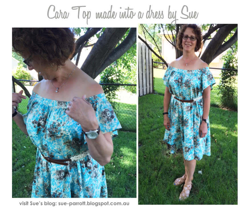 Cara Top Sewing Pattern By Sue And Style Arc - Fashionable off-the-shoulder top