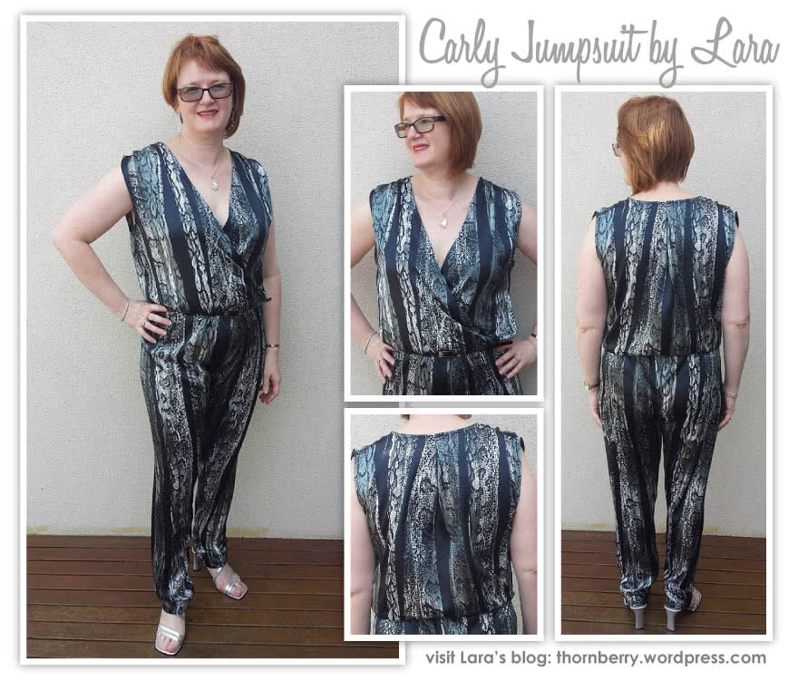 Carly Jumpsuit Sewing Pattern By Lara And Style Arc - Fashionable yet comfortable woven jumpsuit with elastic waist