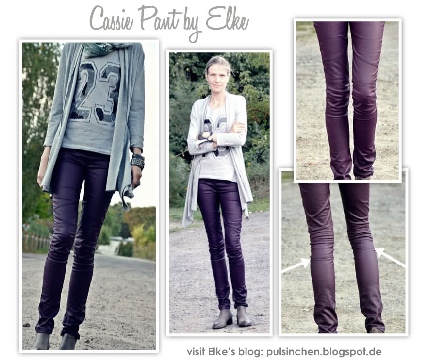 Cassie Stretch Woven Pant Sewing Pattern By Elke And Style Arc - Fashionable pull on ankle length pant with knee patch