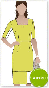 Catherine Dress Sewing Pattern By Style Arc - Classic fully lined woven dress suitable for a Duchess!