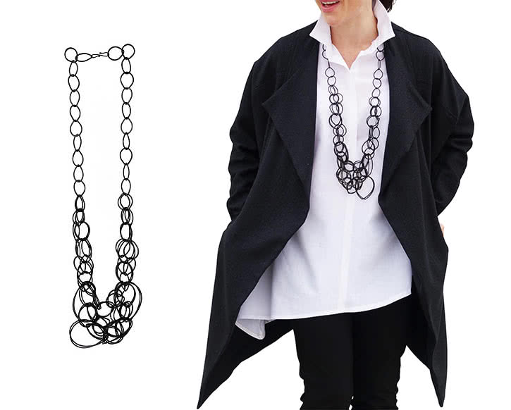 Chain Effect Statement Necklace Fashion Accessory By Style Arc - Gorgeous statement necklace by Style Arc. FREE GLOBAL SHIPPING!