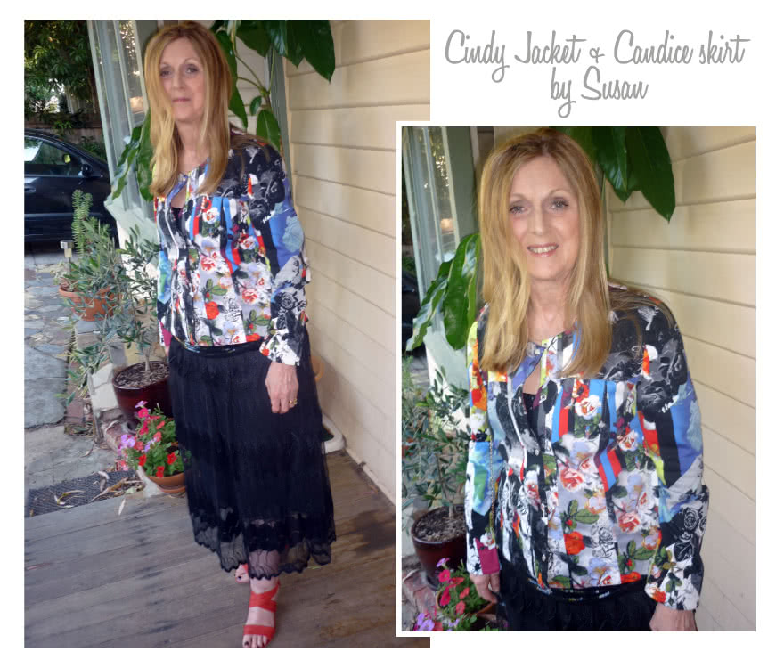 Cindy Jeans Jacket Sewing Pattern By Susan And Style Arc - Fabulous slightly fitted stretch jeans jacket