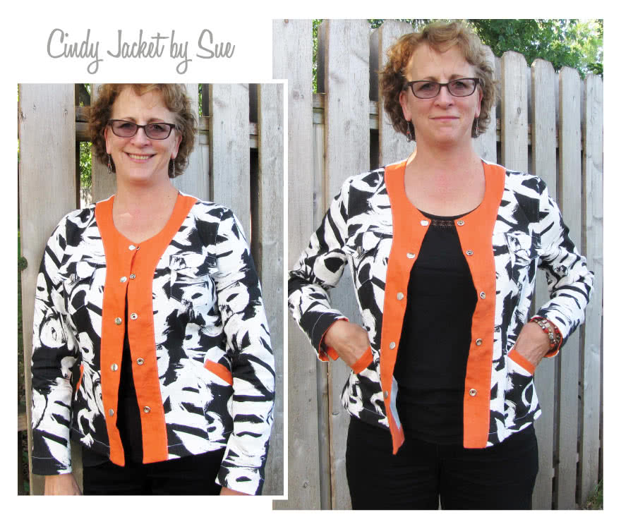 Cindy Jeans Jacket Sewing Pattern By Sue And Style Arc - Fabulous slightly fitted stretch jeans jacket