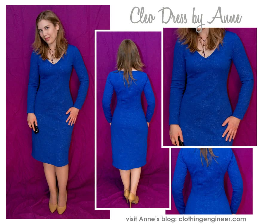 Cleo Knit Dress Sewing Pattern By Anne And Style Arc - This basic knit dress will become be a great staple in your wardrobe
