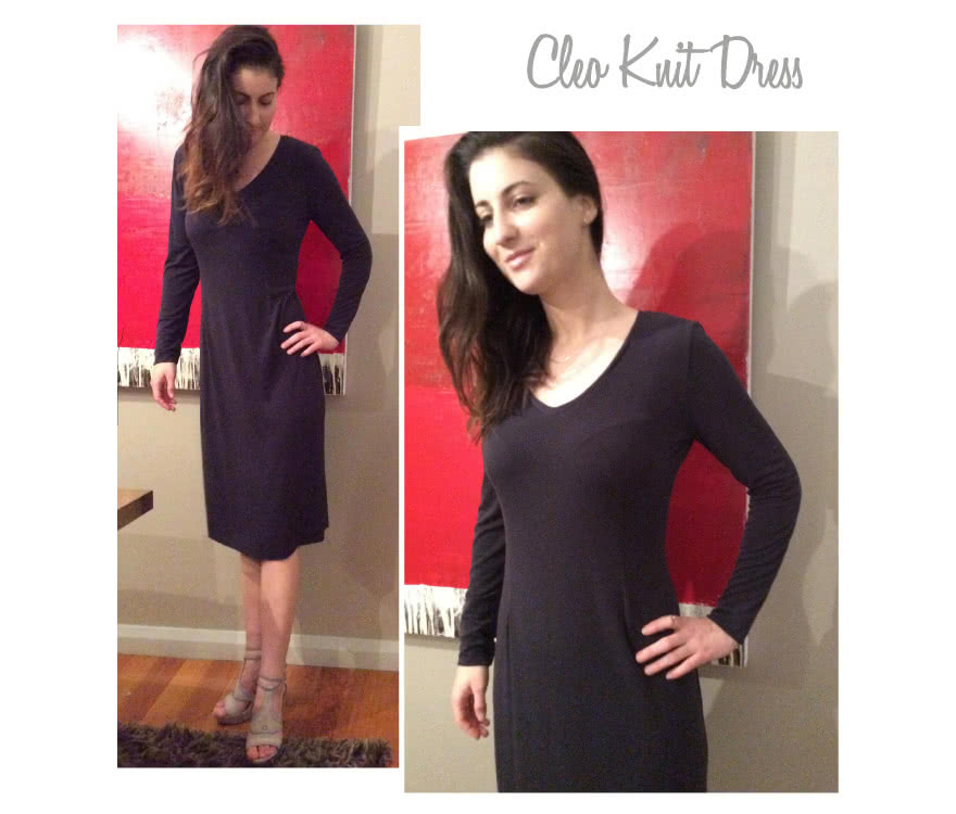 Cleo Knit Dress Sewing Pattern By Style Arc
