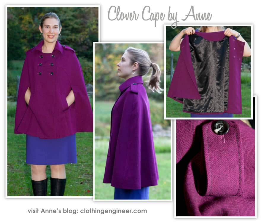 "Clover Cape Sewing Pattern By Anne And Style Arc - Fabulous ""On Trend"" fully lined Cape"