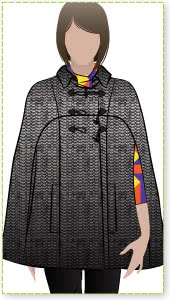 """Clover Cape Sewing Pattern By Style Arc - Fabulous """"On Trend"""" fully lined Cape"""