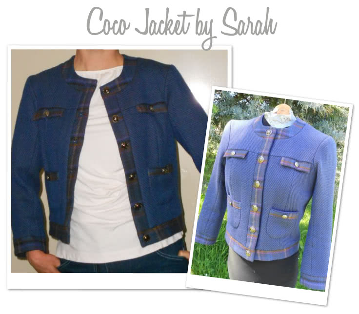 Gigi Jacket Sewing Pattern By Sarah And Style Arc - Classically styled fully-lined semi fitted jacket