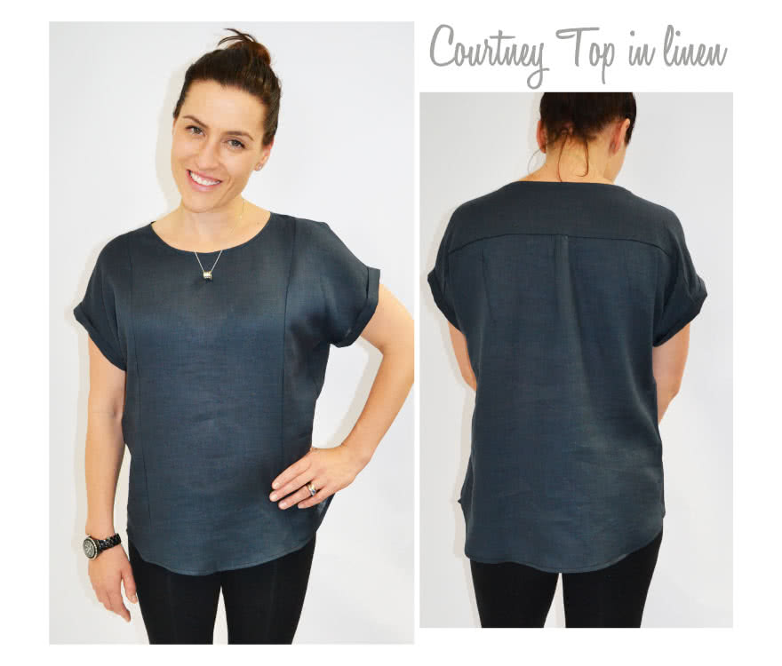 Courtney Top Sewing Pattern By Style Arc - An everyday top with interesting design lines