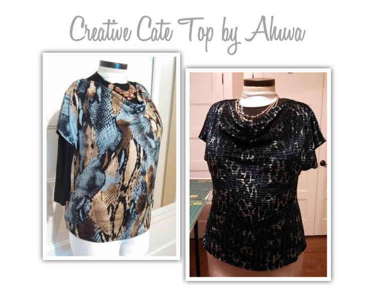 Creative Cate Top Sewing Pattern By Ahuva And Style Arc - Great versitile top that can be worn in different ways