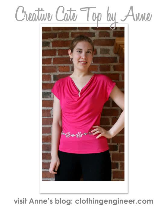 Creative Cate Top Sewing Pattern By Anne And Style Arc - Great versitile top that can be worn in different ways