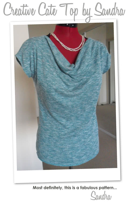 Creative Cate Top Sewing Pattern By Sandra And Style Arc - Great versitile top that can be worn in different ways