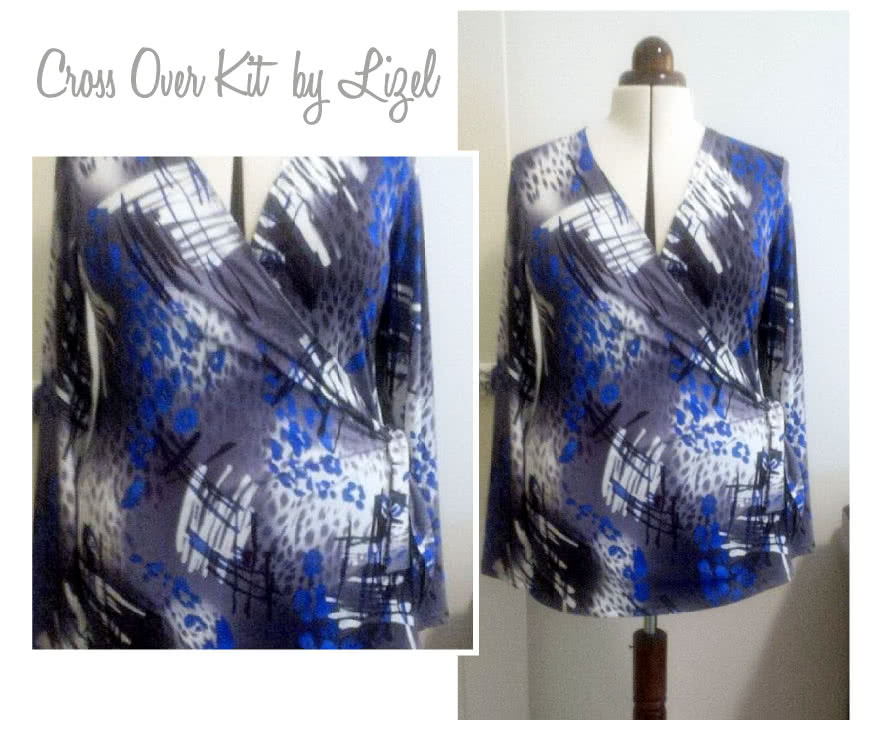 Cross Over Kit Sewing Pattern By Lizel And Style Arc - Clever wrap top with side buckle feature