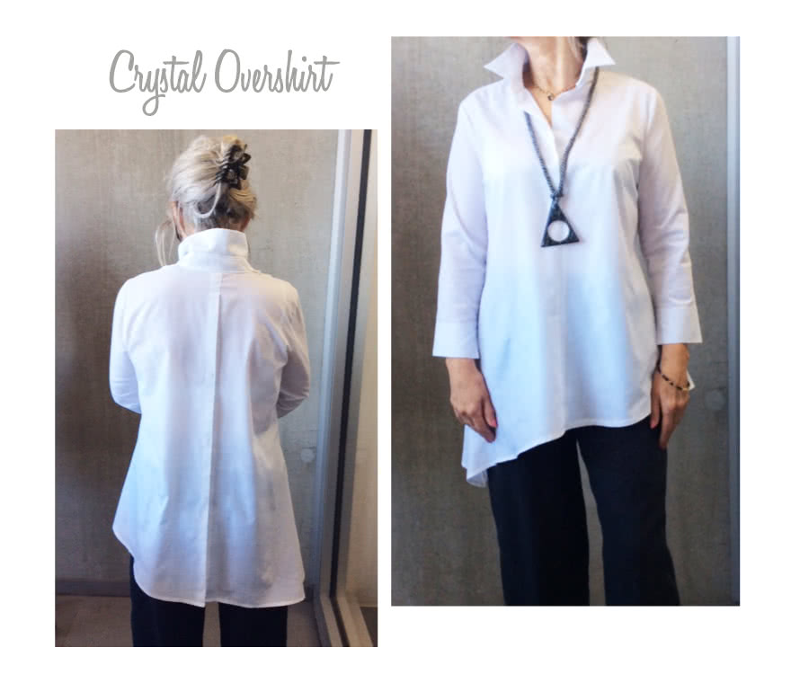 Crystal Over-Shirt Sewing Pattern By Style Arc