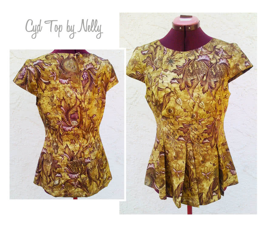 Cyd Top Sewing Pattern By Nelly And Style Arc - Fabulous pleated peplum top